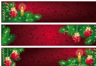 Red Christmas Banner Vector Design