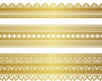 Gold Lace Border Decoration Vector