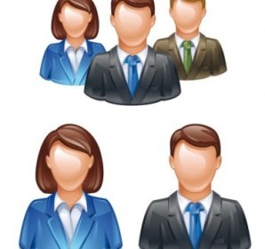 3D People Vector Icons