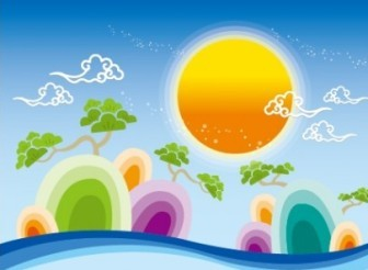Creative Design Landscape Vector Background