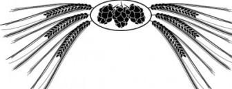 Vector Hops And Barley Vector Clip Art