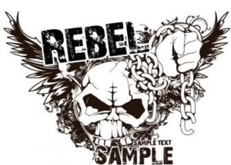 Vector Skull T-shirt Design