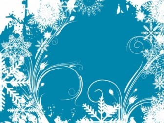 Vector Background Design Winter Swirl Decoration