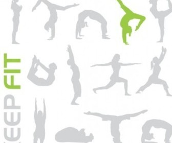 Vector Silhouette Fitness Designs
