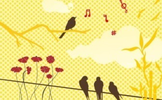 Vector New Set: Birds & Flowers Flower Vector Art