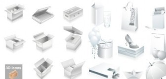 Vector Blank Boxes And Other Goods Vector Art
