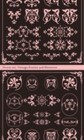 Vector The Exquisite Lace Angular Decorative Vector Art