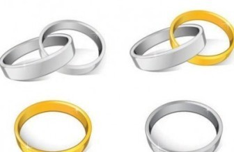 Vector Wedding Rings Vector Art