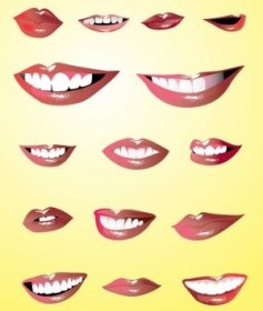 Vector Lips Set Vector Art