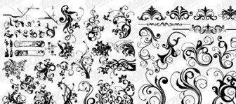 Vector Number Of Blackandwhite Pattern Material For Fashion Flower Vector Art