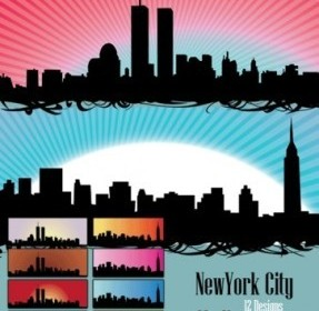Vector – Skyline US New York City Landscape Vector Graphics
