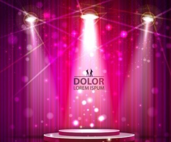 Stage Lighting Vector Background