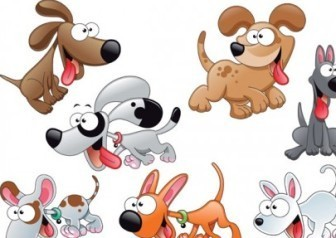Cartoon Dogs Vector Pack