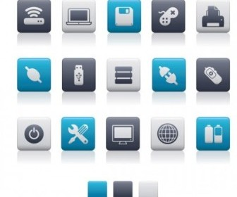 Blue Gray Icons Vectors