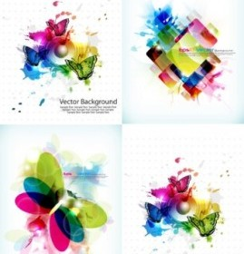Color Pattern Background Vector Art