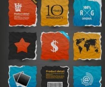 Art Paper Sticker Vectors