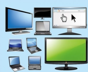 Notebook PC Monitor Vector Pack