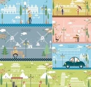 Travel Art Background Vector Design
