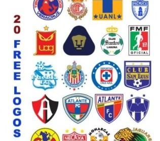 Mexico Football CLub Logos  Vector