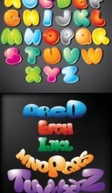 Colorful Cute Letters Vector