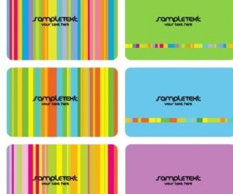 Seven Colors Card Template Vector