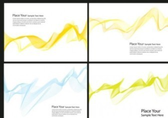 Dynamic Flow Line Card Background Vector