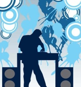 Music DJ Party Vector Banner