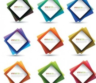 Square Frame Vector Template