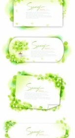 Green Frame Greeting Card Vector
