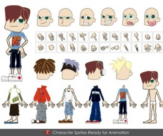 Fashion Male Characters Vector