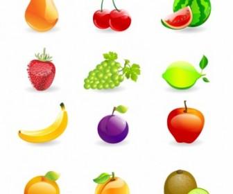 Fruits Icon Vector Set