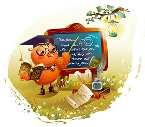 Animal Teacher Cartoon Vector