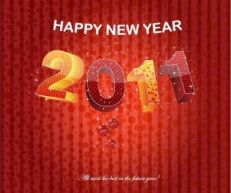 2011 Happy New Year Poster Vector