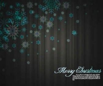 Christmas Snowflake Vector Background