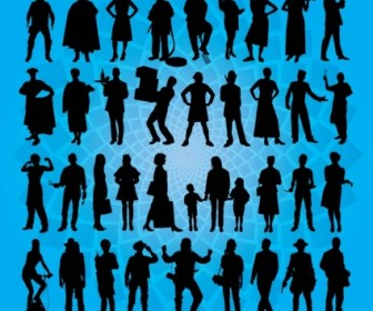 Vector People Actions Silhouette Pack