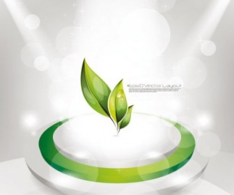 Green Leaf Spotlight Vector Ecology