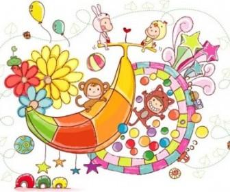 Candy Characters Handdrawn Vector Cartoon