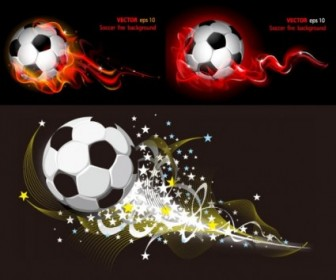 Flame Soccer Ball Vector Design