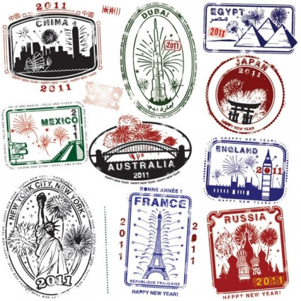 Landmarks Vector Free World Landmarks Seal Vector