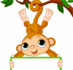 Vector Monkey on Tree