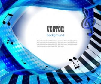 Vector Cover Piano Key Design