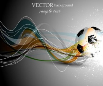 Football Cover Design Vector Art