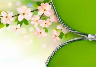 Pink Flower Background Vector Art