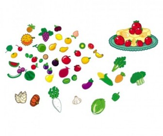 Fruit Vegetable Vector ICons