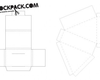 Packaging Template Vector Lines