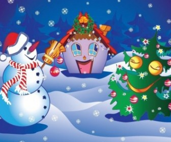 Illustration of Christmas Poster Vector