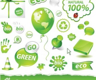 Vector Beautiful Green Icon Vector Graphics