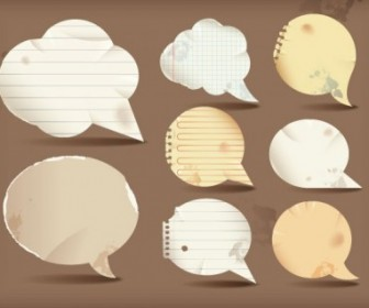 Vector Dialogue Bubble Paper 1 Vector Art