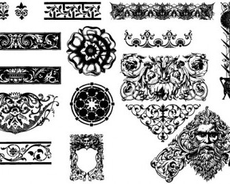 Vector Victorian Ornaments Vector Art