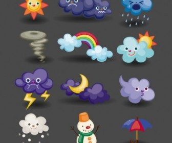 Vector Cartoon Weather 04 Icon Vector Graphics